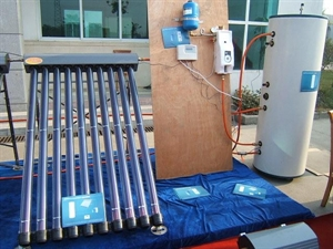 Picture of Westech solar hot water system without heat exchanger